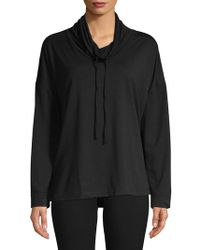 N Natori - Nvious French Terry Cowlneck Pullover - Lyst