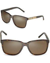 Burberry - 58mm Check-print Wayfarer Sunglasses - Lyst