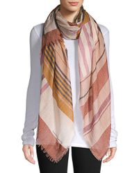 Vince Camuto - Striped Frayed Scarf - Lyst