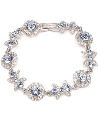 Givenchy - Rhodium-plated And Glass Stone Crystal Bracelet - Lyst