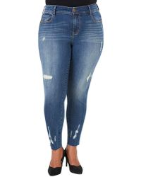 Seven7 - Plus Plus Distressed Skinny Jeans - Lyst