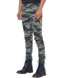 NANA JUDY - Camo Printed Crew Jeans - Lyst