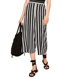 Mango - Life Printed Cropped Trousers - Lyst