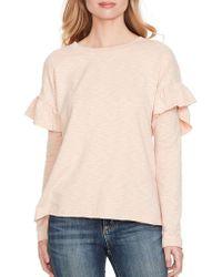 Jessica Simpson - Sunya Ruffled Sweatshirt - Lyst