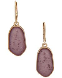 Lonna & Lilly - Textured Drop Earrings - Lyst
