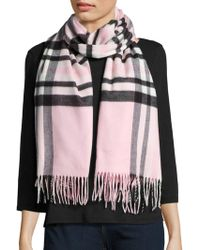 Lord & Taylor - Plaid Blanket Wrap And Scarf - Lyst