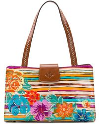 Patricia Nash - Floral-embroidered Leather Satchel - Lyst