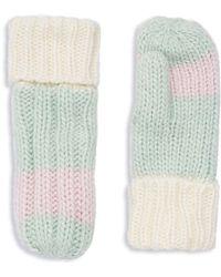 Rella - Colorblock Wool-blend Cuffed Mittens - Lyst