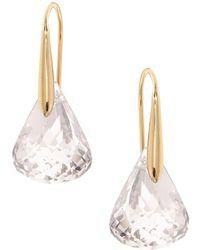 Swarovski - Lunar Drop Earrings - Lyst