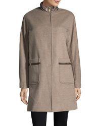 Ellen Tracy - Plus Wool Blend Topper Coat - Lyst