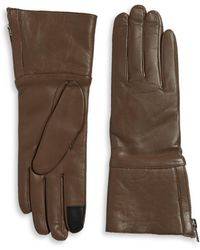 Carolina Amato - Shearling-lined Leather Gloves - Lyst
