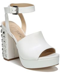Fergie - Jolie Block Heel Leather Platform Sandals - Lyst