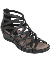Earth - Juno Leather Cage Sandals - Lyst