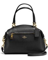 COACH - Prairie Satchel In Polished Pebble Leather - Lyst