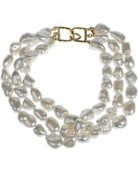 Kenneth Jay Lane - 10-15mm Pearl Layered Necklace - Lyst