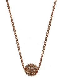 843276bac74683 Givenchy - Necklace, Rose Gold-tone Crystal Fireball Pendant Necklace - Lyst