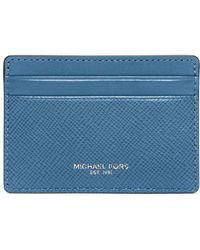 Michael Kors - Crimson Textured Leather Card Case - Lyst