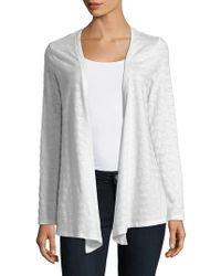 Lord & Taylor - Petite Fly Away Open-front Cardigan - Lyst