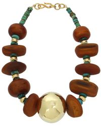 Robert Lee Morris - Turquoise Asymmetric Collar Necklace - Lyst