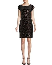 Eliza J - Sequined Velvet Dress - Lyst