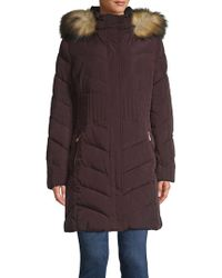 Ivanka Trump - Quilted Faux-fur Trimmed Jacket - Lyst