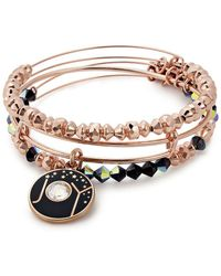 ALEX AND ANI - Joy Expandable Crystal Charm Bracelet Set - Lyst