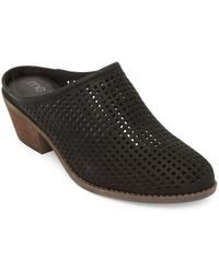 Me Too - Zara Perforated Leather Mules - Lyst