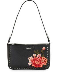 Calvin Klein - Studded Leather Shoulder Bag - Lyst