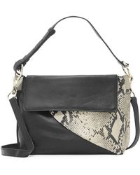 198092be3fc0 Vince Camuto - Ashby Snake-print Flap Leather Crossbody Bag - Lyst