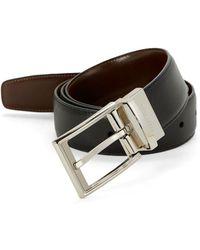 Perry Ellis - Saffiano Leather Belt - Lyst