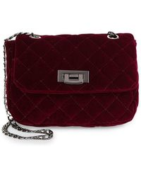 Lord & Taylor - Quilted Velvet Crossbody - Lyst