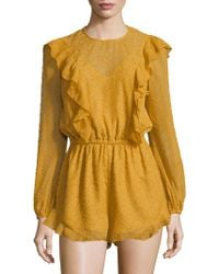 The Fifth Label - Rhythm Textured Romper - Lyst