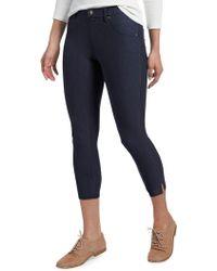 Hue - Ankle Slit Essential Denim Capri Pants - Lyst