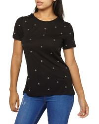 Dorothy Perkins - Daisy-embroidered Tee - Lyst