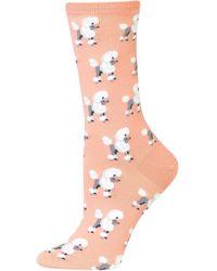 Hot Sox Poodles Crew Socks