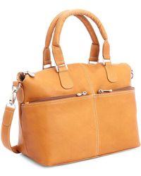 Royce - New York Leather Travel Weekender Duffel Bag - Lyst