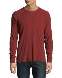 Lucky Brand - Lived In Thermal Cotton Sweatshirt - Lyst