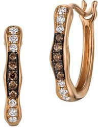 Le Vian - Chocolatier? 14k Strawberry Gold? Hoop Earrings With Chocolate And Vanilla Diamonds? - Lyst