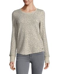 Lucky Brand - Printed Cotton Jumper - Lyst