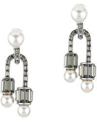 Oscar de la Renta - Art Deco Earrings - Lyst