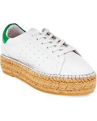 Steven by Steve Madden - Pace Lace-up Leather Trainers - Lyst
