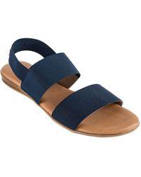 Andre Assous - Nigella Elastic Flat Sandals - Lyst