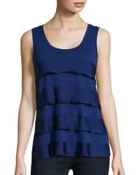 Lord & Taylor - Plus Tiered Tank - Lyst