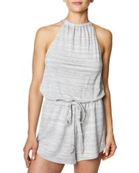Betsey Johnson - Space-dyed Sleeveless Romper - Lyst