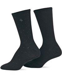 Ralph Lauren - 2-pack Supersoft Pindot Trouser Socks - Lyst
