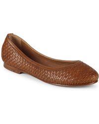 Frye - Carson Woven Leather Ballet Flats - Lyst