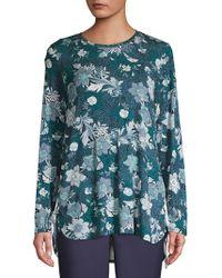 Jones New York - Floral Side-tie Top - Lyst