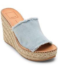 Dolce Vita - Pim Denim Wedge Sandals - Lyst