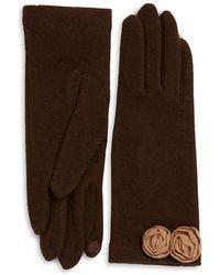 Portolano - Open Sesame Rosette Cashmere-blend Gloves - Lyst