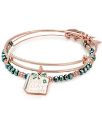 ALEX AND ANI - Gift Expandable Crystal Charm Bracelet Set - Lyst